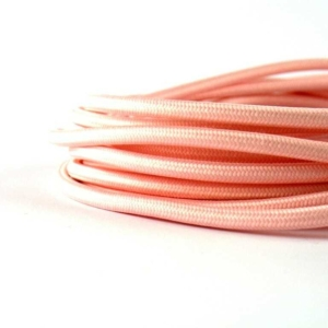 Cavo elettrico tessuto vari colori rosa