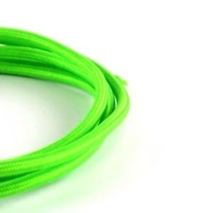 Cavo elettrico tessuto vari colori verde