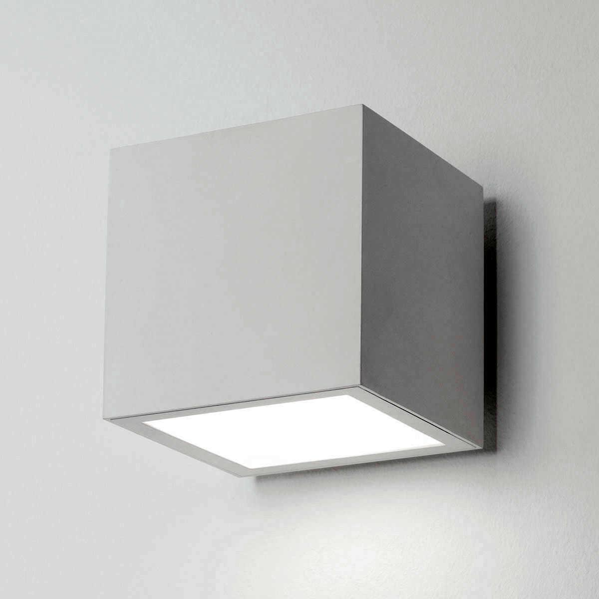Lampada a parete faretto led ek cubo 120f pa for Lampada led