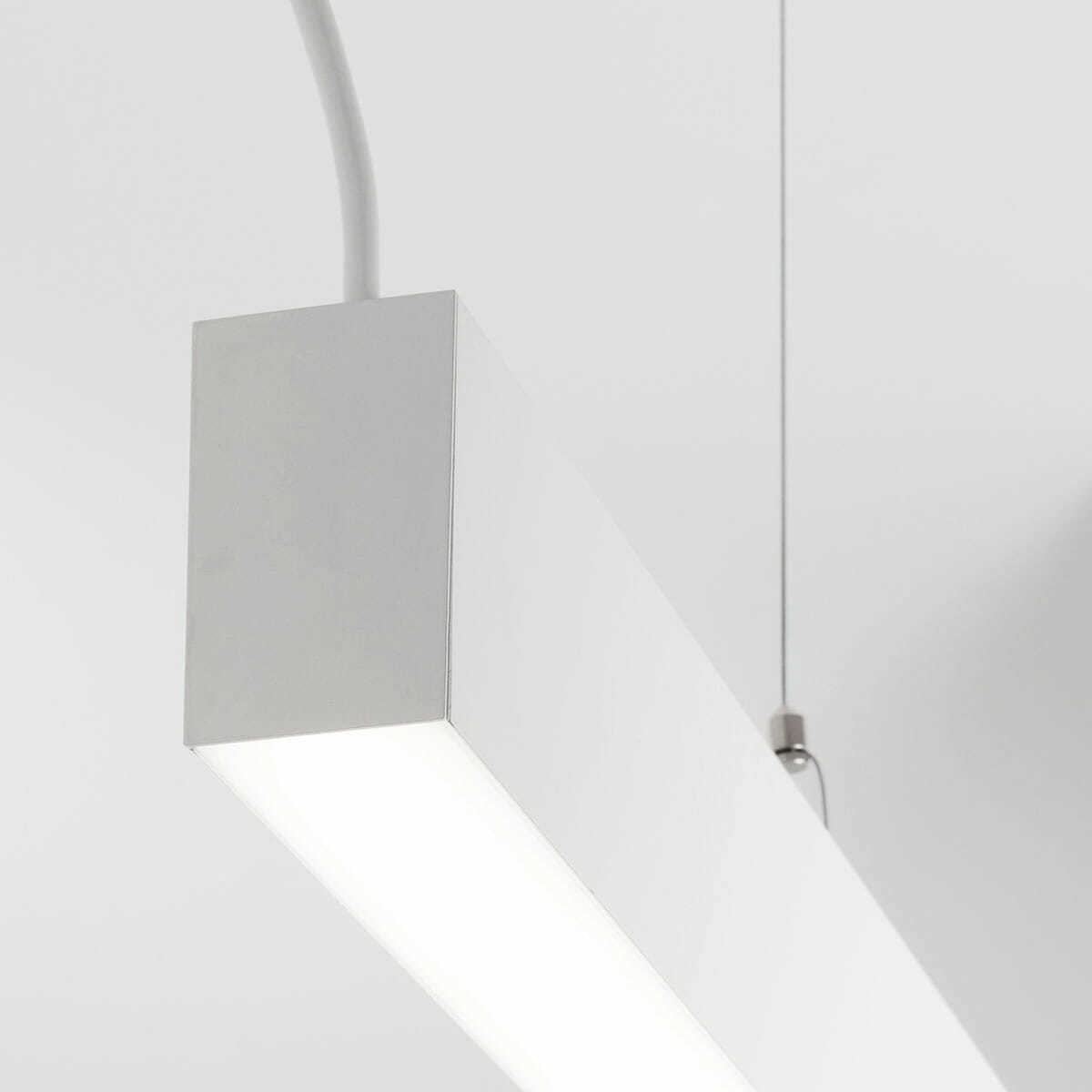 Sistema illuminazione sospesa led modulare e componibile in varie potenze