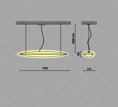 Lampada sospensione sharp pro 48watt