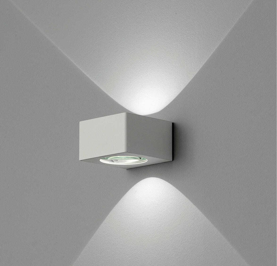Lampada led parete biemissione lynn - Lampada led design ...