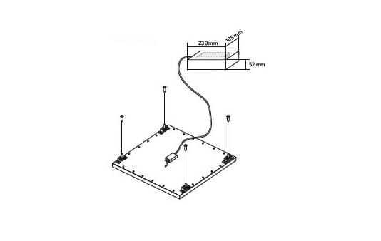 Rosone porta alimentatore per pannello led sospensione-001