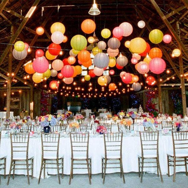 allestimento catenaria lampadine luci matrimonio pendel