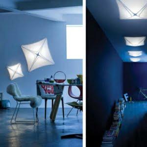 Lampada tessuto design Azhar di CaBelli luce bianca parete
