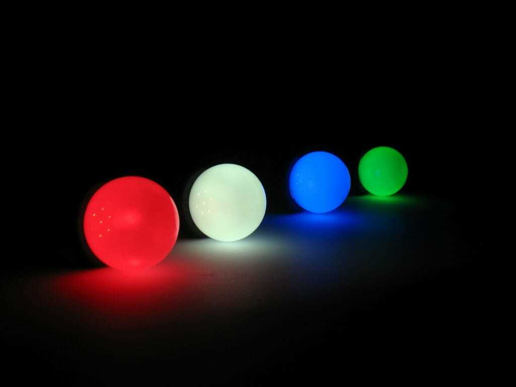 Luci led lampadine colorate per illuminazione alternativa, feste e locali