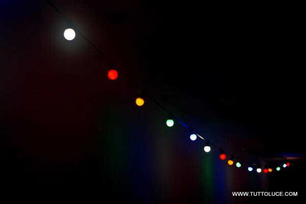 Catenaria di lampadine per esterno pi resistente e di for Lampadine a led online