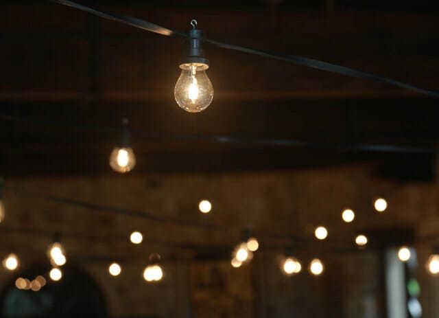 filo di luci per esterno al birrificio Curtis Canava