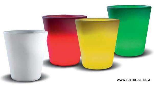 vaso luminoso per esterno rgb multicolore