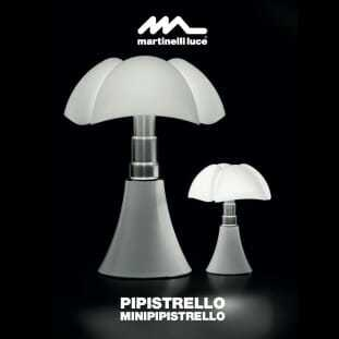 Lampade tavolo design, pipistrello di Gae Aulenti.