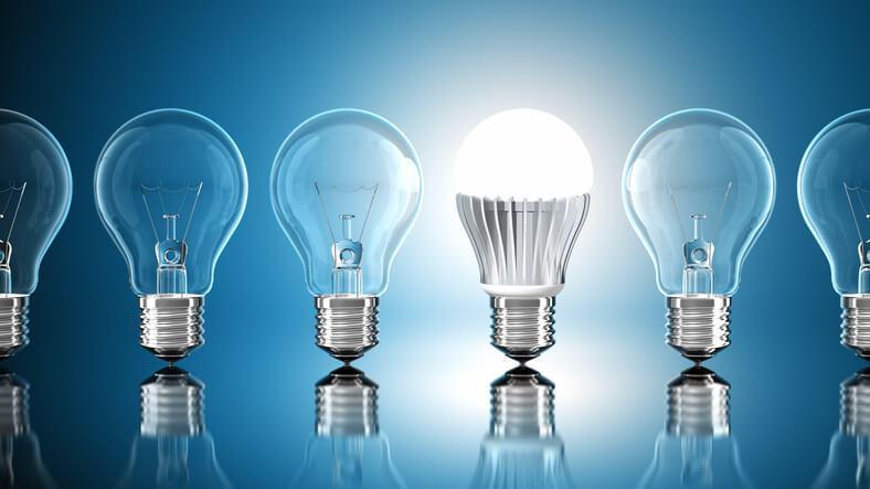 Sostituire le lampadine, quantità di luce emessa dalle lampadine led.