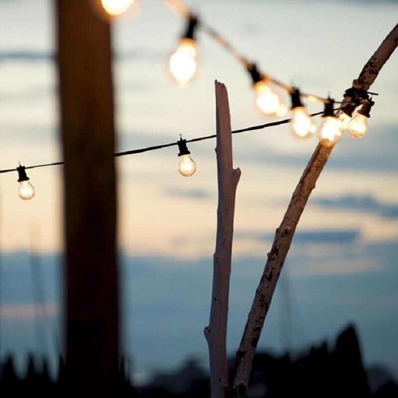 Catenaria di lampadine per esterno professionale e27 ip44 - tuttoluce. Com