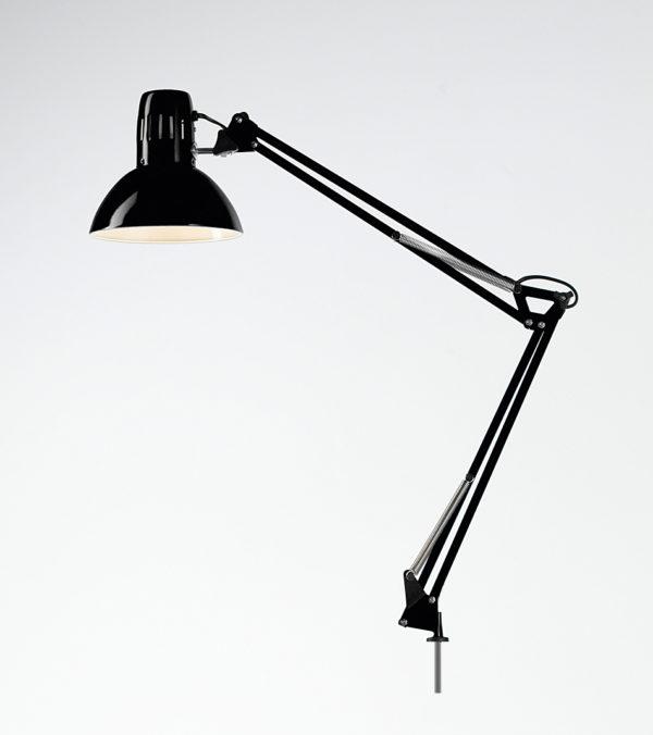 Lampada scrivania orientabile in metallo colore nero