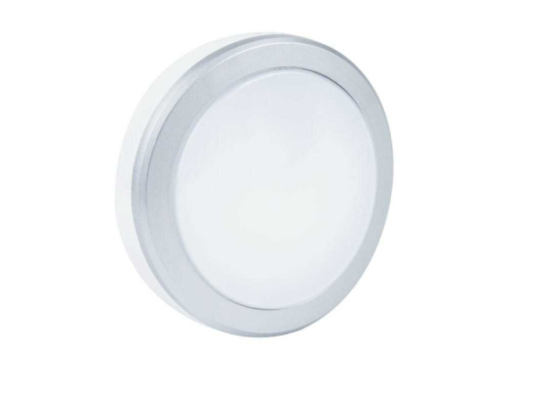 Bulkhead LED 10W Circolare - 4000K - Bianco/Argento Botlighting