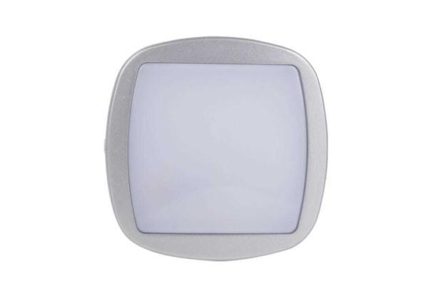 Bulkhead LED 10W Quadrato - 4000K - Bianco/Argento Botlighting