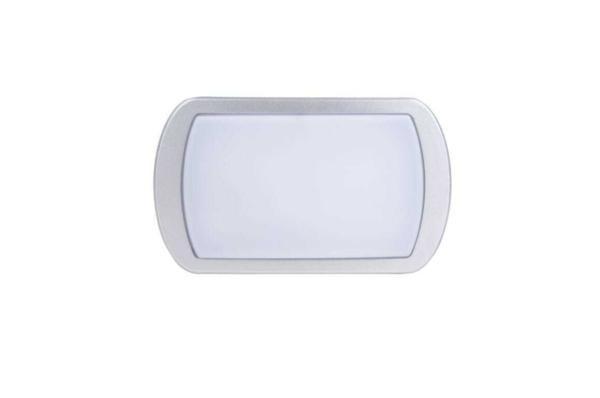 Bulkhead LED 20W Rettangolare - 4000K - Bianco/Argento Botlighting