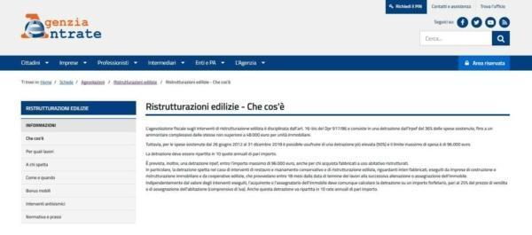2018 risparmia con agevolazione fiscale per le for Agenzia delle entrate ristrutturazioni edilizie