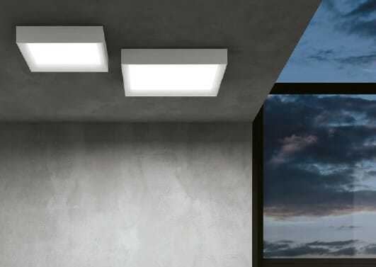 Plafoniera Led Soffitto Rotonda : Tara linealight plafoniera led quadrata ip