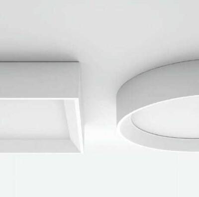 lampada soffitto tara linealight tonda e quadrata