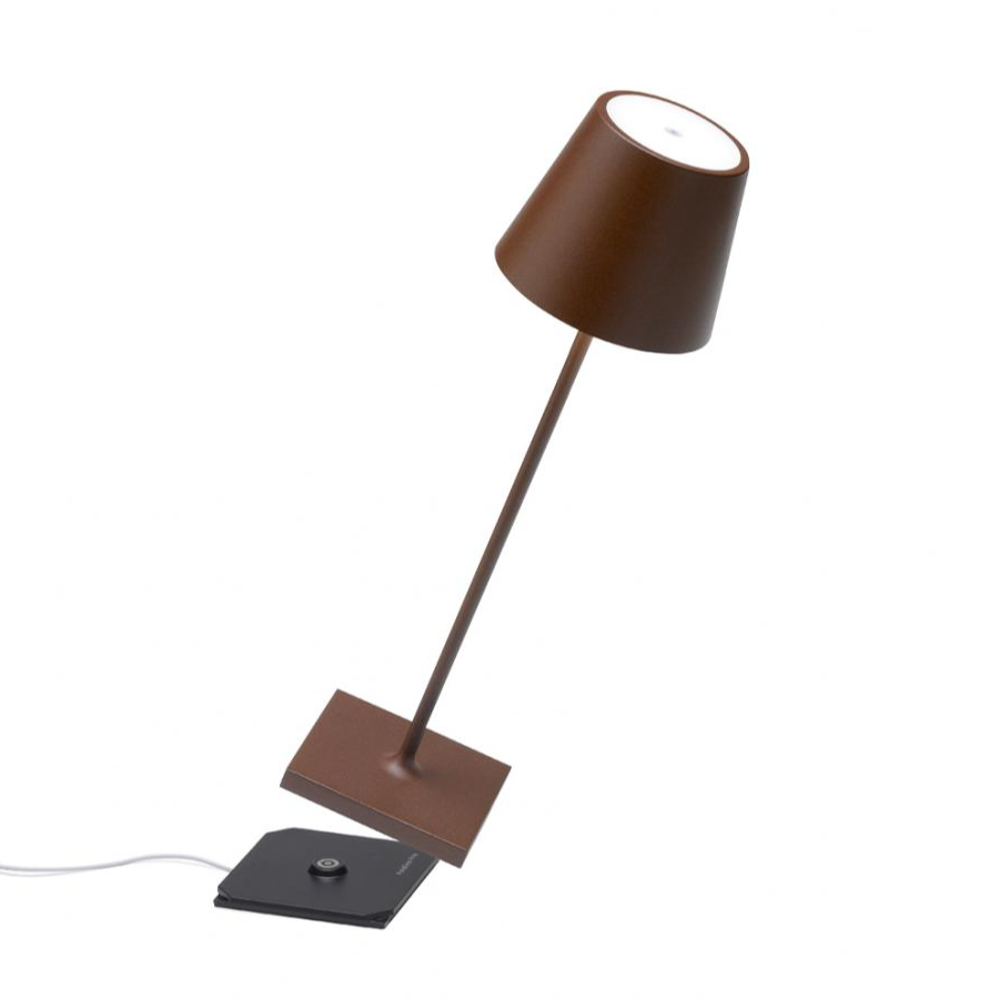 Lampada tavolo led portatile corten ricaricabile poldina ...
