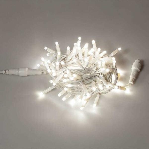 Prolunga 100 LED L.5m  AC/DC - 10W  IP44  c.Bianco