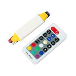 Controller LED RGB RF Wireless IP68 5-24V DC Uscita 5A a canale - incluso Telecomando RF