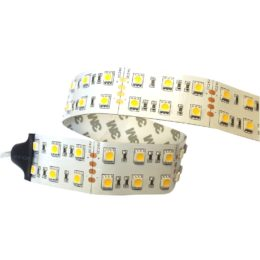 Strip LED L.5m IP20  24V DC-6A - 14W/m - 5500K SMD5050 - strip doppia 28mm