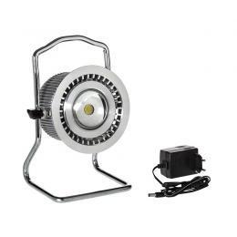 Proiettore LED IP65 portatile con Lente 12V DC - 10W 5500K Alimentatore per ricarica a 240V/12V DC incluso