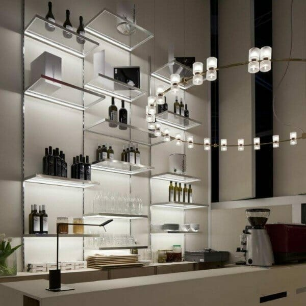 mensole luminose led cucina