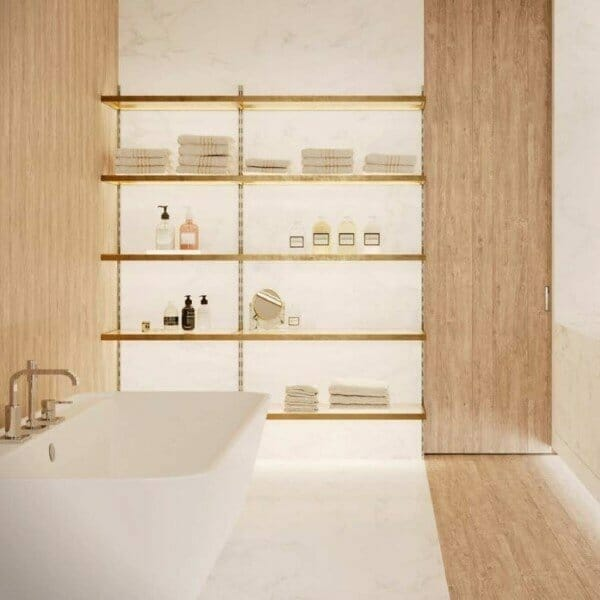 mensole luminose led bagno