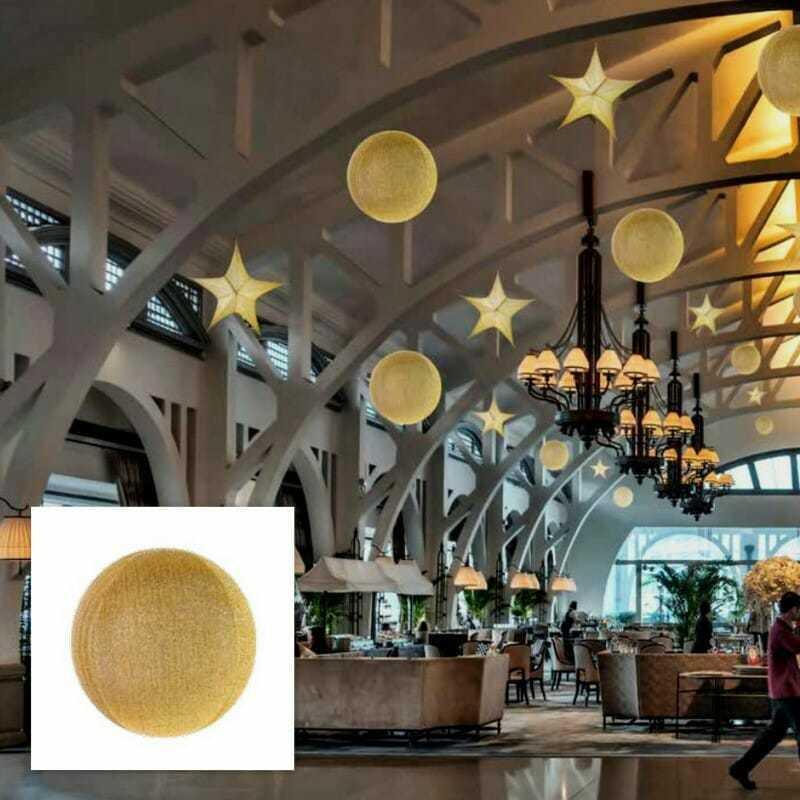 Sfera oro in tessuto glitterato new lamps