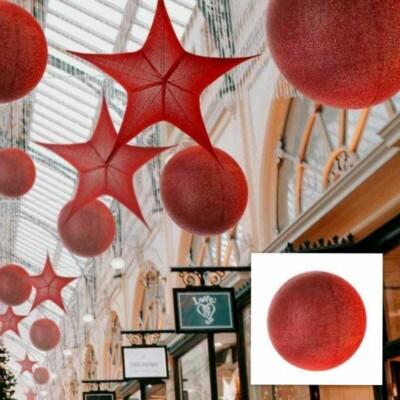 Sfera Rossa In Tessuto Glitterato new lamps