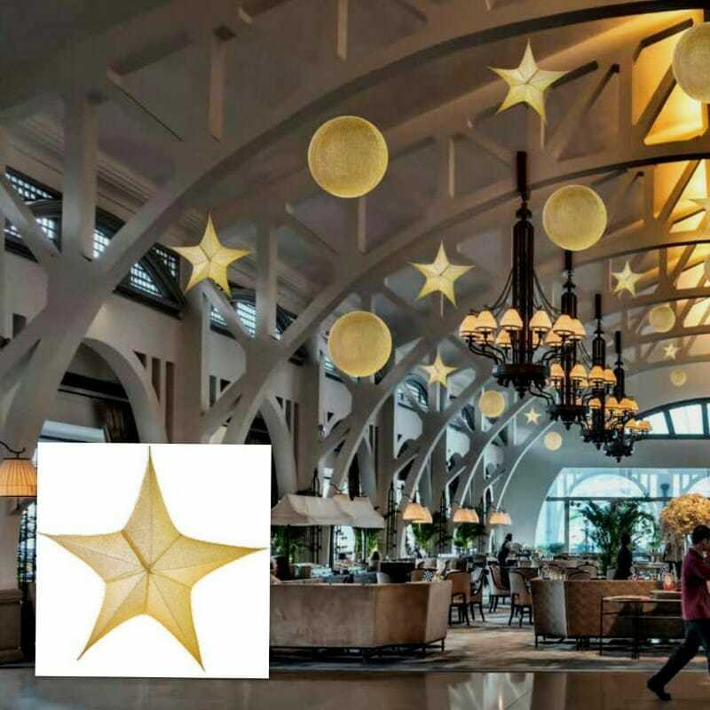 Stella oro d in tessuto glitterato new lamps