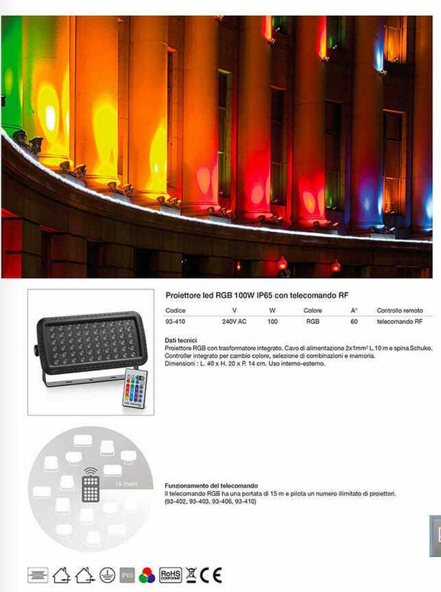 proiettore multicolor rgb new lamps