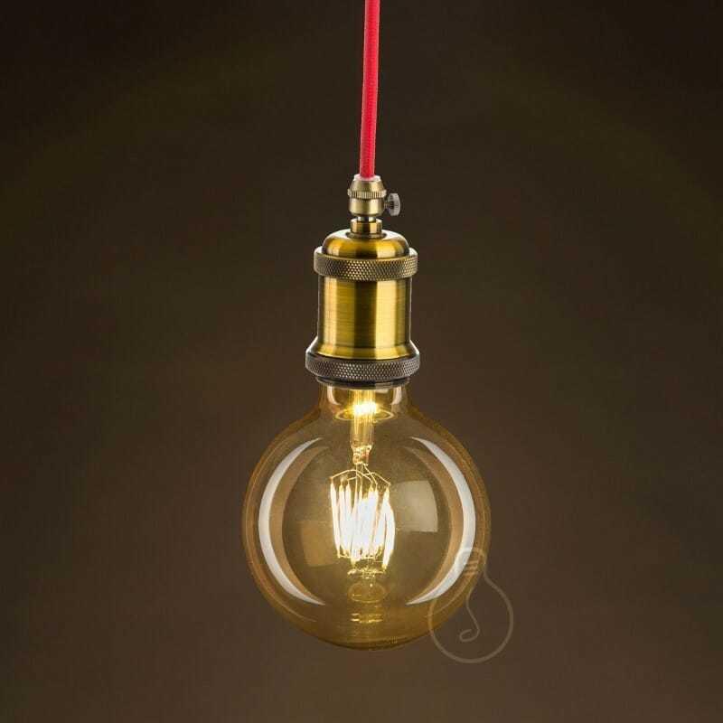 Lampadina led filamento tipo globo 6w e27 vetro anticato - tuttoluce. Com