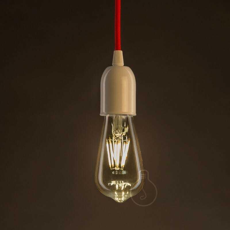Lampadina led filamento tipo edison 6w vetro anticato - tuttoluce. Com
