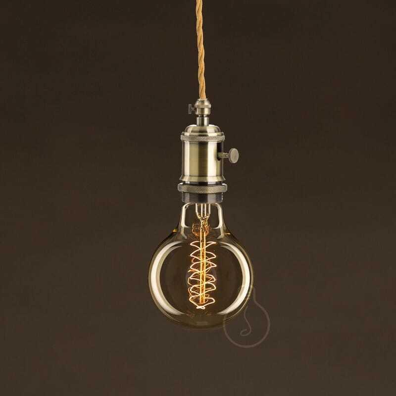 Lampadina filamento carbon vortice globo 8 cm - tuttoluce. Com