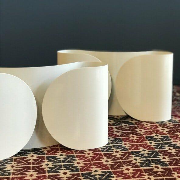 Foglio applique bianca parete 2xe27 flos - tuttoluce. Com