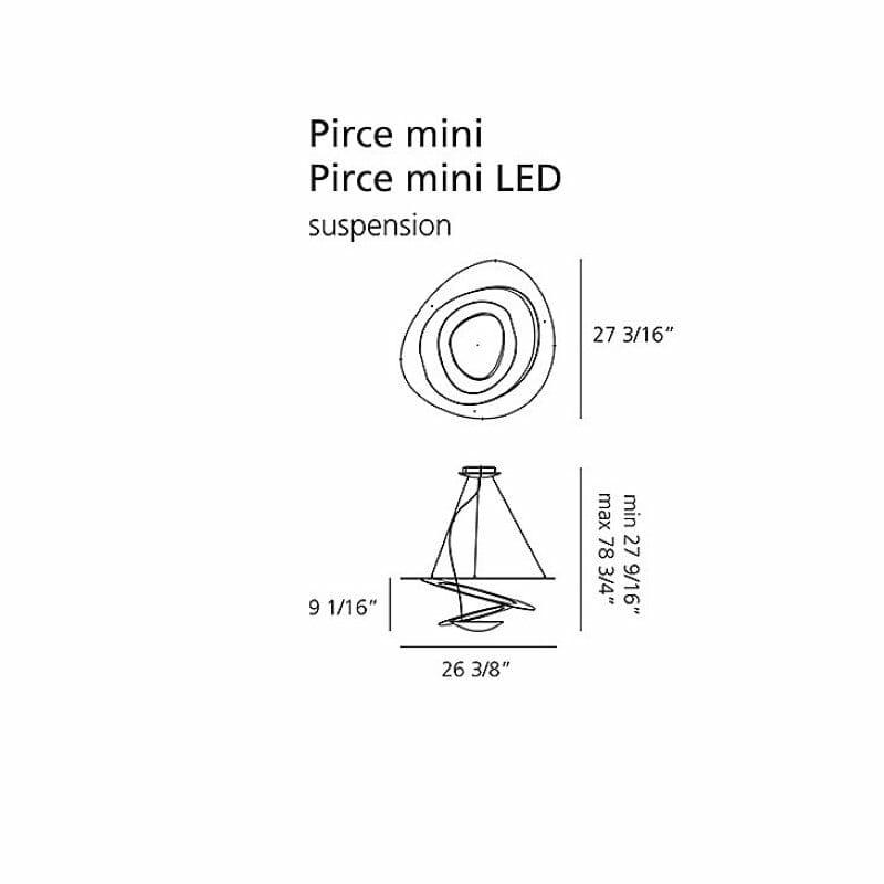Pirce mini led bianco sospensione artemide - tuttoluce. Com
