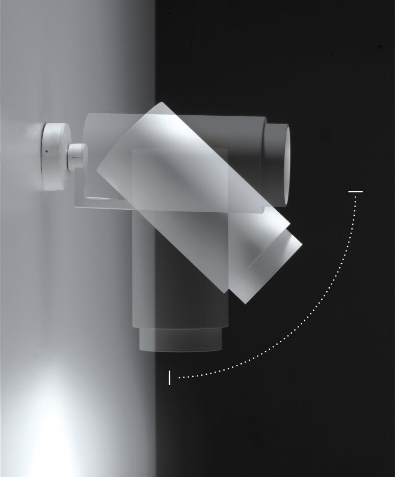 Caleido led parete-soffitto ø98x248mm grigio - tuttoluce. Com