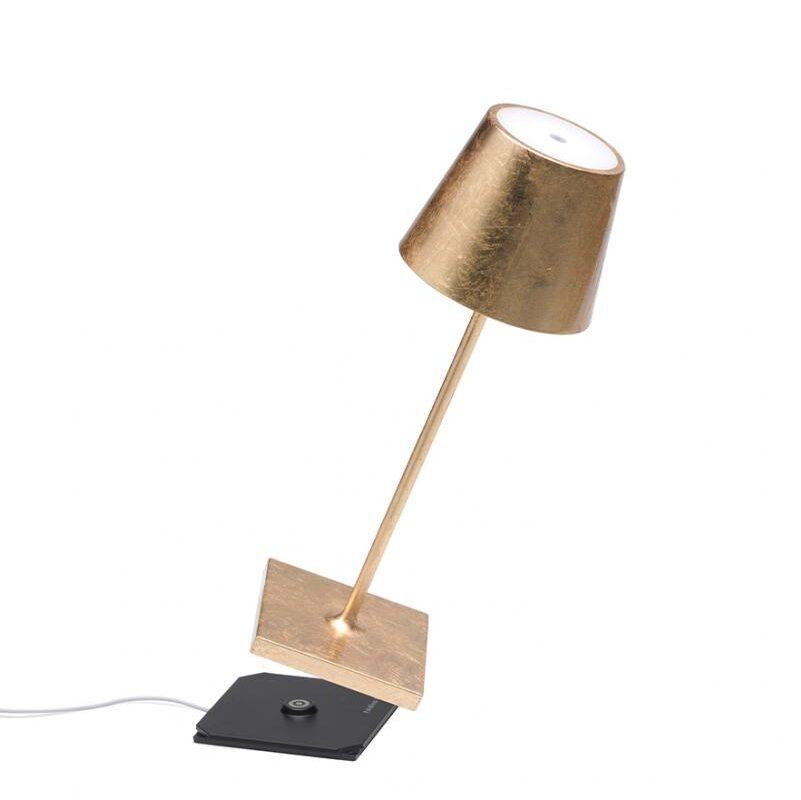 Poldina tavolo mini pro foglia oro dimmer - tuttoluce. Com