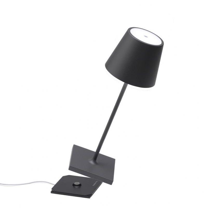 Poldina tavolo mini pro grigio scuro dimmer - tuttoluce. Com