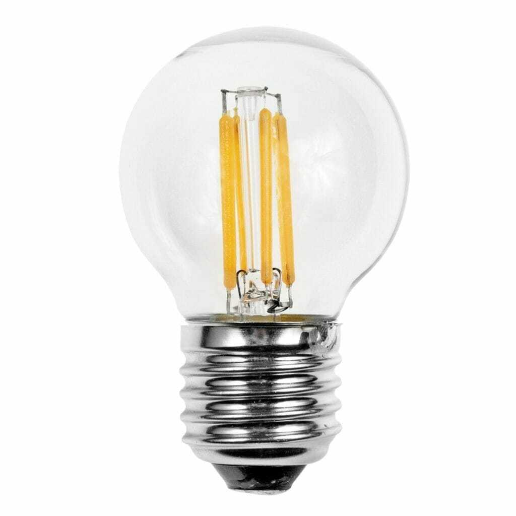 Lampadina led filamento sfera 460lm 4 0w e27 2700k for Confronto lampadine led