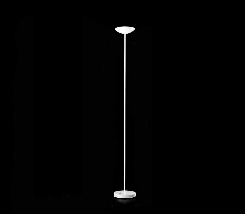 Lampada piantana stelo dritto metallo colore bianco 5918b for Costo lampada