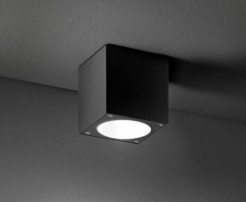 Plafoniera Per Esterno Prezzo : Plafone soffitto per esterno interno colore grafite a