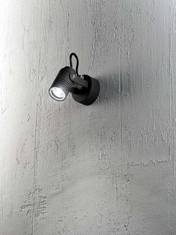 Faretto parete alluminio per esterni/interni colore grafite