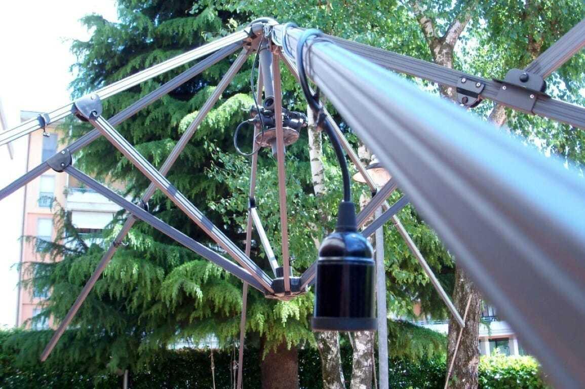 Luci per ombrelloni soluzione pratica per giardino e spiaggia.
