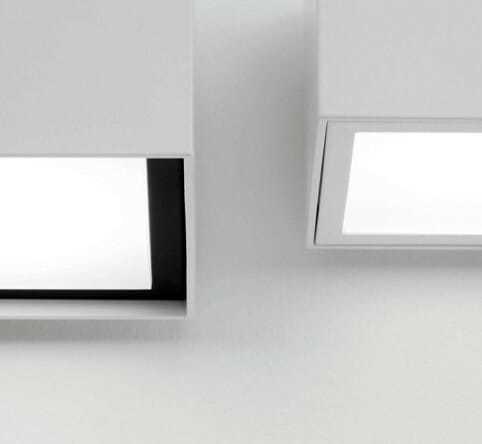 lampada a soffitto faretto led ek cubo 90r-pl plafone
