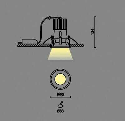 Faretto led incasso cartongesso 10 watt 1000 lumen for Costo faretto led