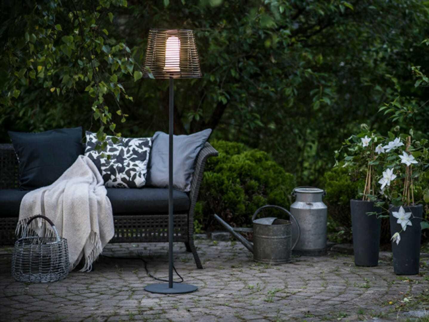 GARDA Floor lamp 150 cm Piantana da esterno IP44 E27 - Tuttoluce.com